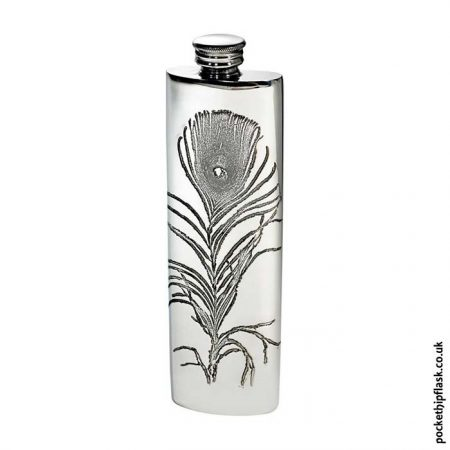 3oz-Pewter-Hip-Flask-Peacock-Feather