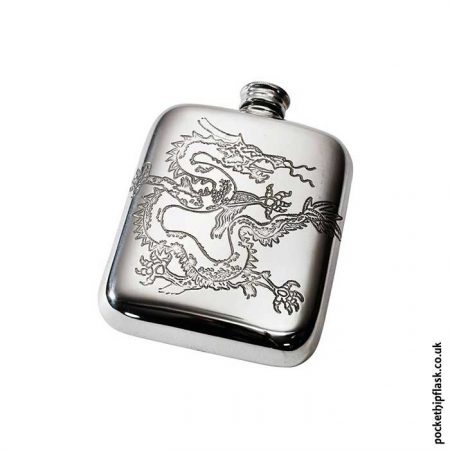 4oz-Chinese-Dragon-Pewter-Cushion-Hip-Flask