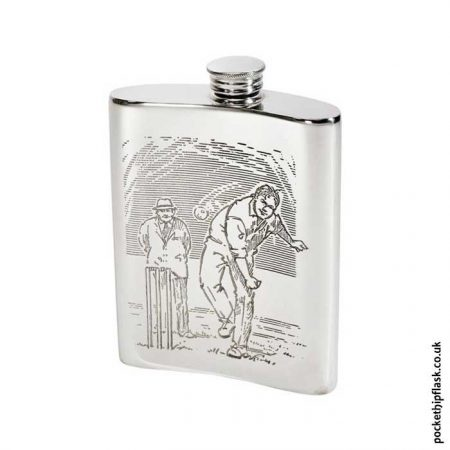 6oz-Pewter-Hip-Flask-with-Cricket-Back