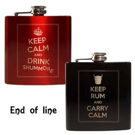Keep Calm Stainless Steel Hip Flasks