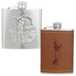 Stainless Steel Golfing Hip Flasks