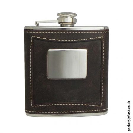6oz-Brown-Leather-Stainless-Steel-Hip-Flask