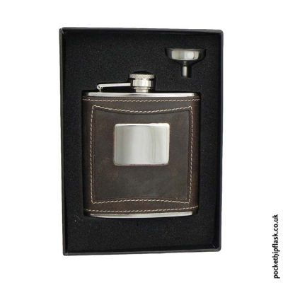 6oz-Brown-Leather-Stainless-Steel-Hip-Flask-Boxed