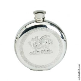 6oz-Round-Pewter-Welsh-Dragon-Hip-Flask