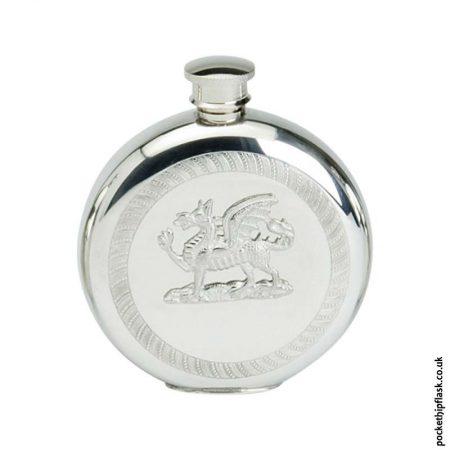 6oz-Round-Pewter-Welsh-Dragon-Hip-Flask