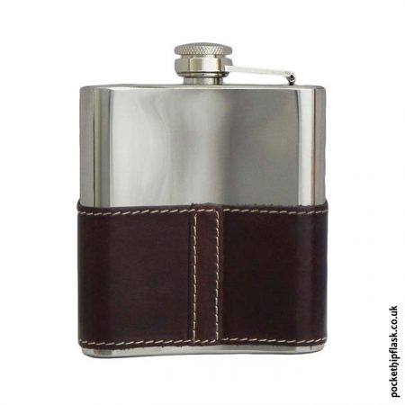 6oz-Shiny-Brown-Leather-Stainless-Steel-Hip-Flask-Back