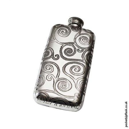 3oz-Pewter-Cushion-Hip-Flask-Swirls