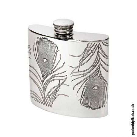 4oz-Pewter-Hip-Flask-Peacock-Feathers