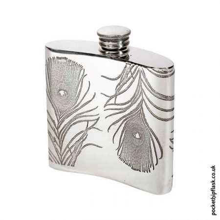 4oz-Pewter-Hip-Flask-Peacock-Feathers-Back