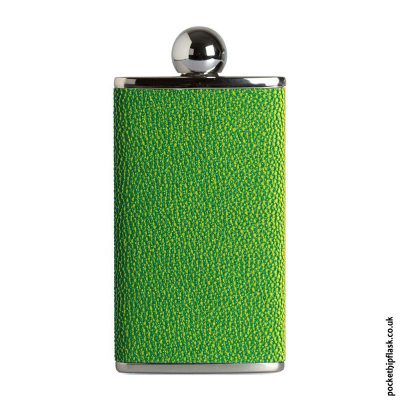 Ladies-Green-Luxury-Leather-4oz-Oval-Hip-Flask
