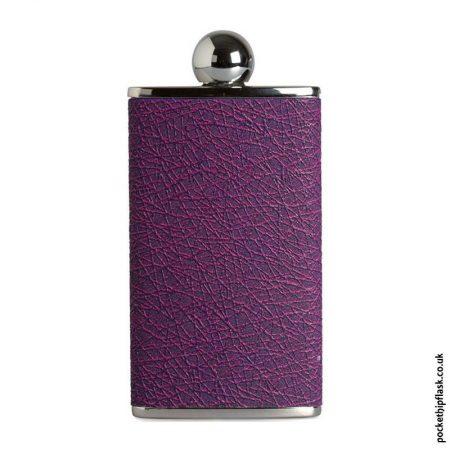 Ladies-Purple-Luxury-Leather-4oz-Oval-Hip-Flask