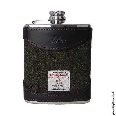 6oz-Burgundy-Luxury-Leather-and-Tweed-Hip-Flask