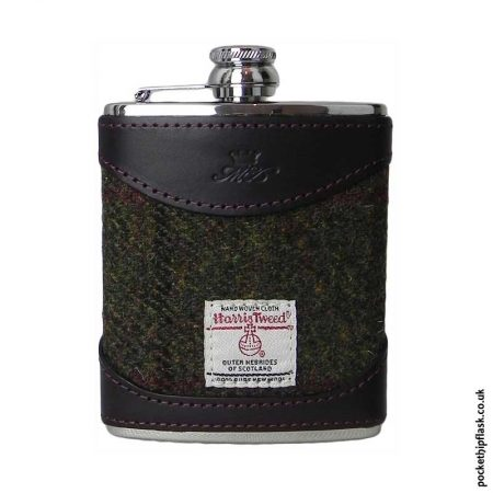 6oz-Burgundy-Luxury-Leather-and-Tweed-Hip-Flask