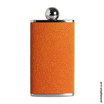 Ladies-Orange-Luxury-Leather-4oz-Oval-Hip-Flask