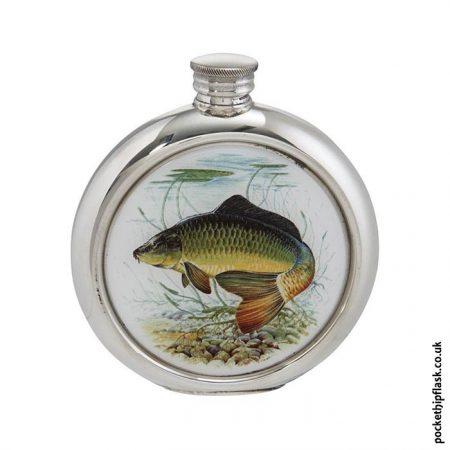 6oz-Round-Pewter-Carp-Fishing-Hip-Flask