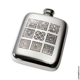 4oz-Medieval-Pewter-Cushion-Hip-Flask