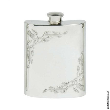 6oz-Pewter-Corner-Thistle-Hip-Flask