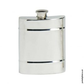 6oz-Pewter-Hip-Flask-with-Double-Raised-Band