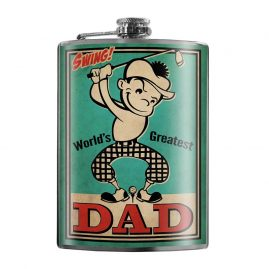 Golf-Dad-8oz-Stainless-Steel-Hip-Flask