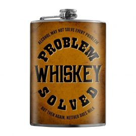 Problem-Whiskey-Solved-8oz-Stainless-Steel-Hip-Flasks