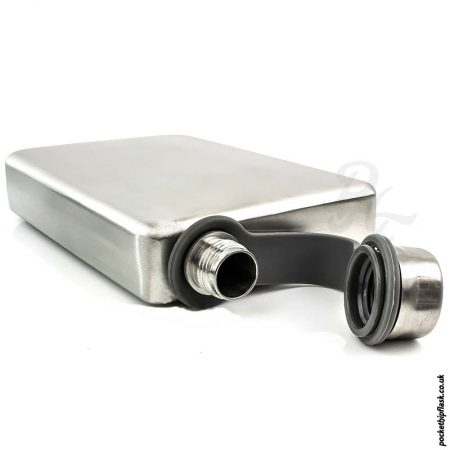 Brushed-8oz-Stainless-Steel-Hip-Flask-down