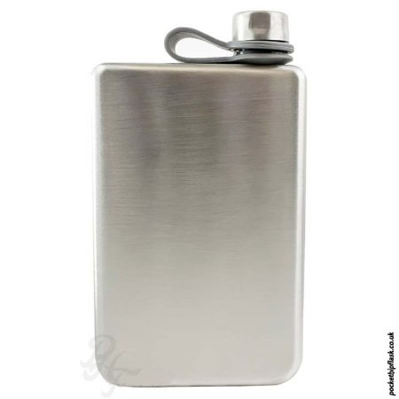 Brushed-8oz-Stainless-Steel-Hip-Flask-front