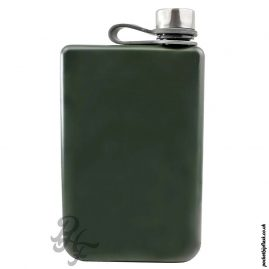 Matt-Army-Green-8oz-Stainless-Steel-Hip-Flask-front