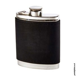 6oz-Pewter-Hip-Flask-with-Black-Leather-Wrap