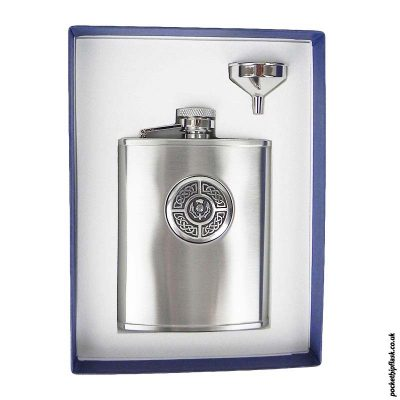 6oz-Thistle-and-Celtic-Brushed-Steel-Hip-Flask-and-Funnel