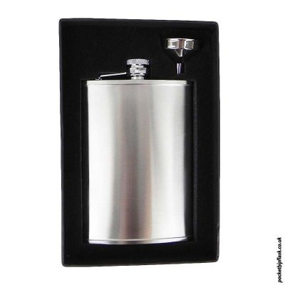 8oz-Brushed-Steel-Hip-Flask-and-Funnel